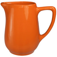 International Tableware CA-60-O Cancun 13 oz. Orange Stoneware Creamer - 36/Case