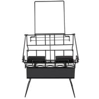 Two Pot Black Wire Airpot Rack with Drip Trays