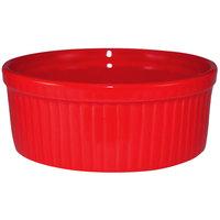 International Tableware RAMF-10-CR Cancun 8 oz. Crimson Red Stoneware Fluted Ramekin - 36/Case