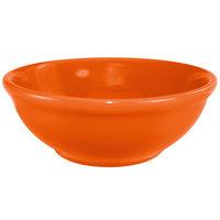 International Tableware CA-15-O Cancun 13 oz. Orange Stoneware Nappie / Oatmeal Bowl - 36/Case