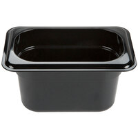 Carlisle 3068703 StorPlus 1/9 Size Black Food Pan - 4 inch Deep