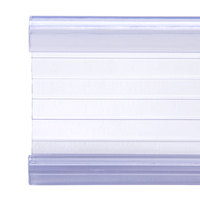 Clear Plastic Label Holder 13 inch x 1 1/4 inch