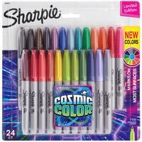 Sharpie 2033573 Cosmic Color Assorted Color Fine Point Permanent Marker - 24/Pack