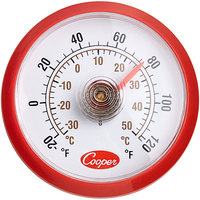 Cooper-Atkins 535-0-8 1 1/2 inch Dial Stick-On Cooler Thermometer