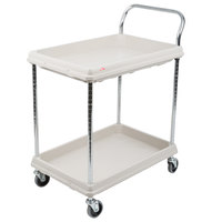 Metro BC2030-2DG Gray Utility Cart with Two Deep Ledge Shelves 32 3/4 inch x 21 1/2 inch