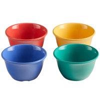 Elite Global Solutions B4218-MIX Brazil 7 oz. Assorted Colors Melamine Bouillon Cup - 12/Case