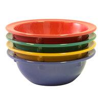 Elite Global Solutions B534B-MIX Brazil 13 oz. Assorted Colors Melamine Bowl - 12/Case