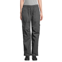 Uncommon Threads 4102 Unisex Slate Gray Customizable Grunge Cargo Chef Pants - XL
