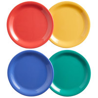 Elite Global Solutions B714PL-MIX Brazil 7 1/4 inch Assorted Colors Round Melamine Plate - 12/Case