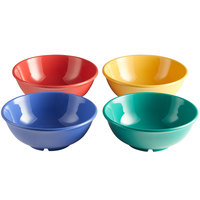 Elite Global Solutions B725PB-MIX Brazil 24 oz. Assorted Colors Melamine Bowl - 12/Case