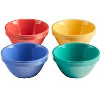Elite Global Solutions B4375-MIX Brazil 8 oz. Assorted Colors Melamine Bouillon Cup - 12/Case