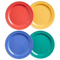 Elite Global Solutions B91PL-MIX Brazil 9 inch Assorted Colors Round Melamine Plate - 12/Case