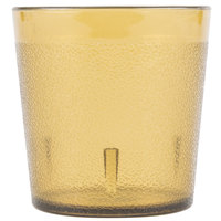 Carlisle 552913 Stackable 9 oz. Amber SAN Plastic Old Fashioned Tumbler - 6/Pack
