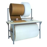 Bulman A692R 30 inch x 64 inch Packing / Dispensing Table with A690R Rotary Shear Cutter
