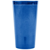 Carlisle 521647 Stackable 16 oz. Royal Blue SAN Plastic Tumbler - 6/Pack