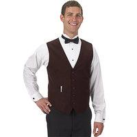 Henry Segal Men's Customizable Brown Basic Server Vest - XS