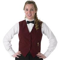 Henry Segal Women's Customizable Burgundy Basic Server Vest - XS