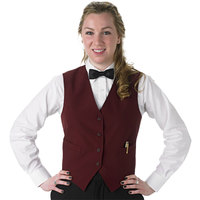 Henry Segal Women's Customizable Burgundy Basic Server Vest - L