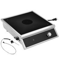 Vollrath HPI4-3000 High-Power 4-Series Commercial Induction Range with Temperature Control Probe - 208-240V, 3000W
