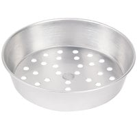 American Metalcraft PA90142 14 inch x 2 inch Perforated Standard Weight Aluminum Tapered / Nesting Pizza Pan