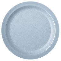 Carlisle PCD21059 Slate Blue 10 inch Polycarbonate Narrow Rim Plate - 48/Case