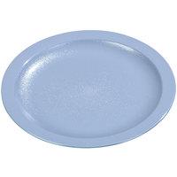 Carlisle PCD21059 Slate Blue 10 inch Polycarbonate Narrow Rim Plate 48 / Case