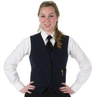Henry Segal Women's Customizable Navy Blue Basic Server Vest - XL