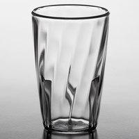 Carlisle 4366207 Swirl 5 oz. Clear Polycarbonate Tumbler - 6/Pack