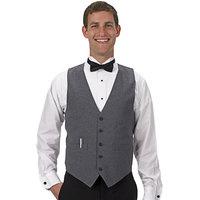 Henry Segal Men's Customizable Heather Gray Basic Server Vest - XS