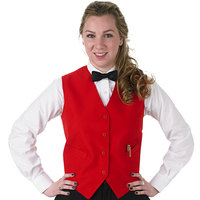 Henry Segal Women's Customizable Red Basic Server Vest - L