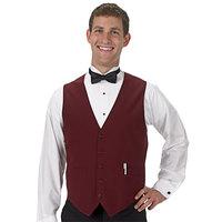 Henry Segal Men's Customizable Burgundy Basic Server Vest - XS