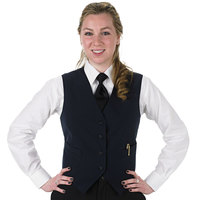 Henry Segal Women's Customizable Navy Blue Basic Server Vest - L