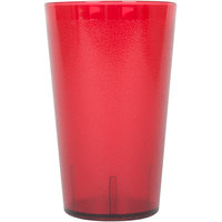 32 oz. Red Pebbled Plastic Tumbler - 12/Pack
