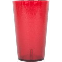 32 oz. Red Pebbled Plastic Tumbler - 12/Pack