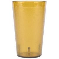 Carlisle 553213 Stackable 32 oz. Amber SAN Plastic Tumbler - 3/Pack