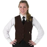 Henry Segal Women's Customizable Brown Basic Server Vest - XL