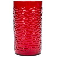 Carlisle 551710 Pebble Optic 16.7 oz. Ruby SAN Plastic Tumbler - 6/Pack