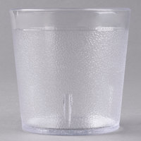 Carlisle 552907 Stackable 9 oz. Clear SAN Plastic Old Fashioned Tumbler - 6/Pack
