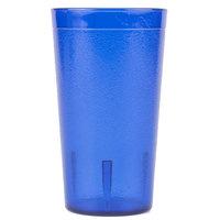 Carlisle 521247 Stackable 12 oz. Royal Blue SAN Plastic Tumbler - 6/Pack