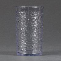 Carlisle 551207 Pebble Optic 12 oz. Clear SAN Plastic Tumbler - 6/Pack