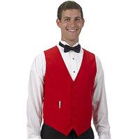 Henry Segal Men's Customizable Red Basic Server Vest - XS