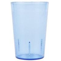 Carlisle 552654 Stackable 8 oz. Blue SAN Plastic Tumbler - 6/Pack