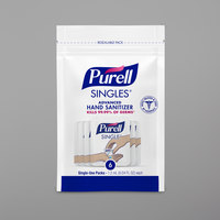 Purell® 9630-150-6CT Advanced Re-Sealable Zipper Pouch with (6) 0.04 oz. Single Use Hand Sanitizer Packets - 150/Case