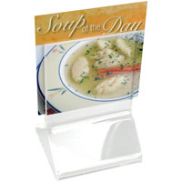 Cal-Mil 591 Classic Standard 2 1/4 inch x 2 1/4 inch Acrylic Displayette