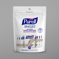 Purell® 9630-55-24CT Advanced Re-Sealable Zipper Pouch with (24) 0.04 oz. Single Use Hand Sanitizer Packets - 55/Case