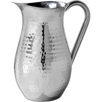American Metalcraft BWPH84 Hammered Finish Stainless Steel 84 oz. Bell Pitcher