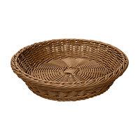GET WB-1502-H Designer Polyweave 11 1/2 inch x 2 3/4 inch Honey Round Plastic Basket