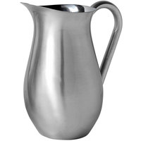 American Metalcraft BWP84 Satin Finish Stainless Steel 84 oz. Bell Pitcher with Ice Guard