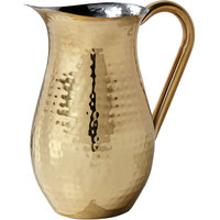 American Metalcraft BWPHG84 Gold Hammered Finish Stainless Steel 84 oz. Bell Pitcher