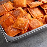 Conte's Pasta 1 lb. Partially Cooked Square Lobster Ravioli - 10/Case
